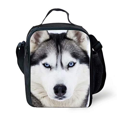 POLERO Lunchtasche Mittagessen Tasche Picknicktaschen Lunch Tote Lunch Box Lunch Bag Kühltasche mit Husky Print