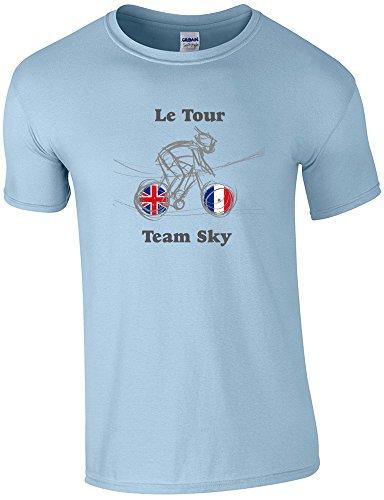 360 Tour – Le Tour Team Sky – T-Shirt de Cyclisme Taille S au 2 x L - Bleu - XL