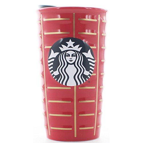 Starbucks 2016 Holiday Siren Ceramic Coffee Travel Tumbler Cup, 10 oz