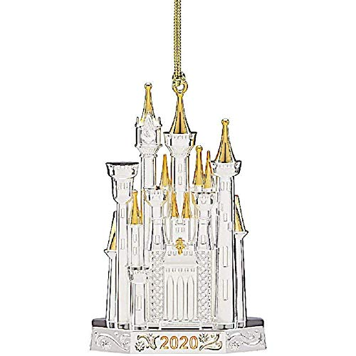 Lenox 2020 Disney Castle Ornament, 0.50 LB, Metallic