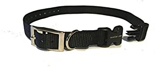"""Educator E Collar 3/4\"""" Quick Snap Double Buckle Replacement Dog Strap,Black 24 Inch"""