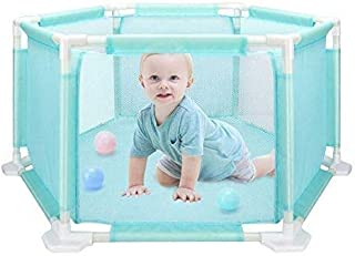 JXXDDQ Baby Playpen|Children's Hexagonal Playpen Playard Toys with Breathable Mesh for Babies Toddler, Indoor and Outdoor Play,Washable