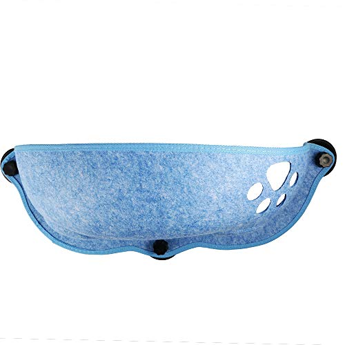 Window Mount Cat Bed Cat Hammock Window Perch Bed Sleeping Bag with Suction Cups 33 Lbs Blue