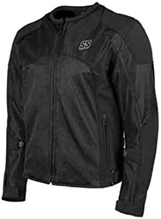 Speed and Strength Midnight Express Mesh Men's Street Motorcycle Jacket - Black/Small