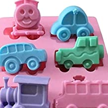 JoyGlobal Silicone 6 Cavity Mixed Car Train Jeep All Purpose DIY Mould (Soap Weight Approx 45-50 Grams)