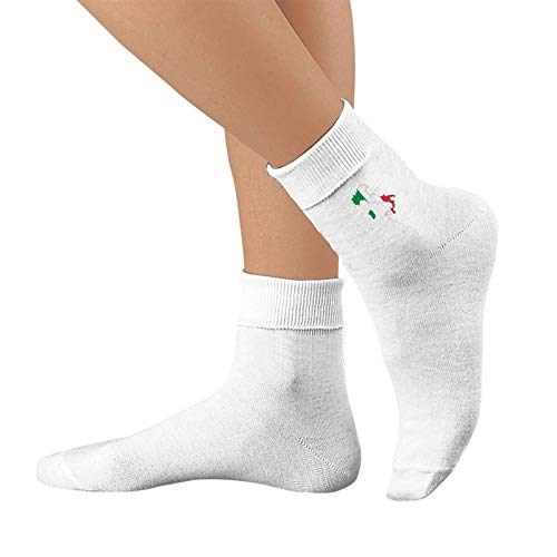 Shanghao Italia Italien Italienische Flagge Unisex Cotton Crew Socken Casual Strumpf