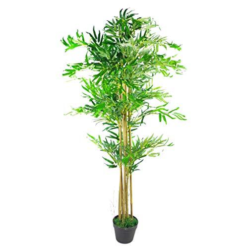 Leaf LEAF-7262 Árboles de bambú Artificiales de Aspecto, 150 cm, tamaño XL, Materiales Mixtos, Marrón natural