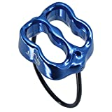 NewDoar Climbing Abseiling Belay Device Professional ATC Rappelling Descender 25KN V-grooved Safety Equipment(Blue)