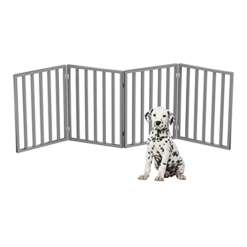 PETMAKER Pet Gate – Dog Gate for Doorways, Stairs or House – Freestanding, Folding, Accordion Style, Wooden Indoor Dog Fence