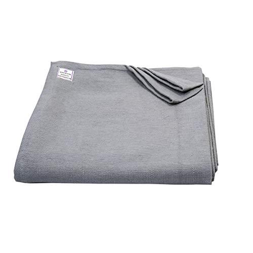 Yogikuti Manta de yoga, 100% algodón tejida a mano, manta de yoga Pune Iyengar, manta de color (gris)