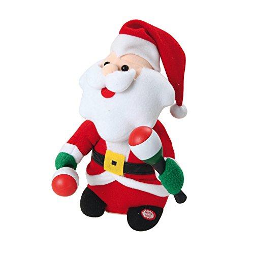 AUTOUR DE MINUIT 5AUT332 Automate Père Noël à Piles, Plastique, Multicolore, 16 x 15 x 26 cm