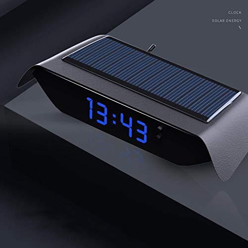 Solar leuchtende Auto Uhr Thermometer Auto hochpräzise elektronische Uhr Auto elektronische Uhr freie Verkabelung beginnen mit dem Auto Hochtemperaturbeständiges ABS