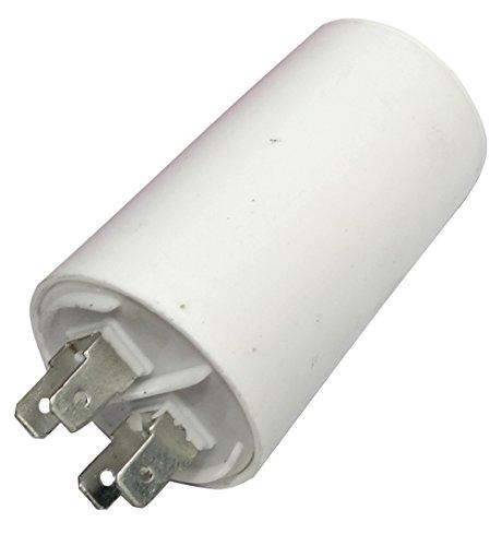 Aerzetix: Permanenter Arbeitskondensator für Motor 16μF 450V mit Laschen Ø40x70mm ± 5% 3000h C18657