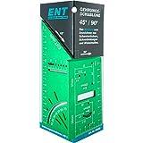 ENT 99003 Gehrungsschablone - Multitool - 3D-Bohrschablone - Anreißschablone - mit 45°-/90°-Winkel Aluminium grün eloxiert