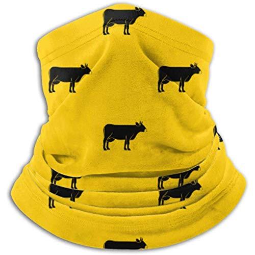 Xian Shiy Kuhmuster Wiederholen Sie den geometrischen Schal, eine Vollmaske oder einen Hut, eine Halsmanschette, eine Halskappenmaske, eine Halbmaske und eine Gesichtsmaske