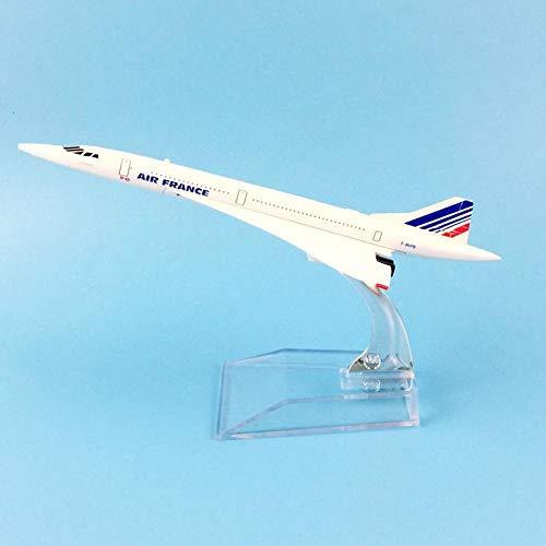BOBO Flugzeugmodell Flugzeugmodell 16Cm Air France Concorde Flugzeugmodell Metalldruckguss Modellflugzeug 1: 400