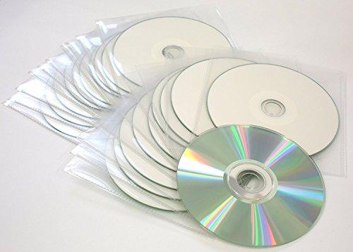 Lot de 10CD vierges Traxdata CD-R 52x à pochettes imprimables diamant argenté blanc
