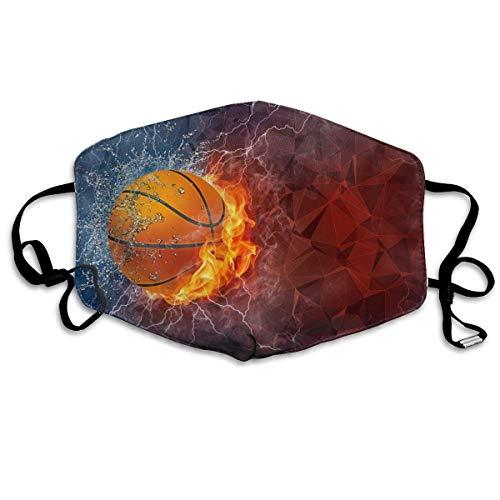 Feuer Basketball Mundabdeckung Gesichtsabdeckung