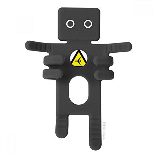 Waarschuwingssymbool geel zwart vliegtuig driehoek telefoonhouder auto dashboard houder voor mobiele telefoon cadeau