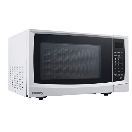 Danby DMW09A2WDB 0.9 cu. ft Oven, with Push Button Door, 900 Watt Counter top Microwave in White