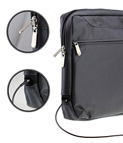 Navitech Schwarz Premium Case/Cover Trage Tasche für das Lenovo Flex 11 Chromebook 11.6-Inch