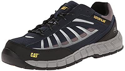 Caterpillar Men's Infrastructure Steel Toe Work Shoe, Navy, 12 M US