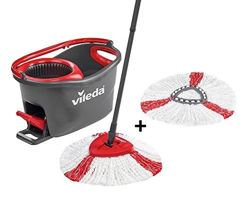 Vileda Easy Wring/Clean Turbo Set Besen mit Eimer + 2Refill