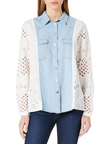 Desigual Cam_Indo T-Shirt, Bianco, S Donna