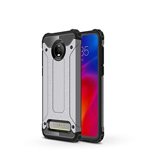 FanTings Capa para Motorola Moto Z4 Play, [à prova de choque] [Resistente] [Armadura resistente] Capa protetora de camada dupla robusta generosa, quatro cantos espessos, capa para Motorola Moto Z4 Play – Cinza