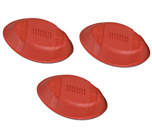 """12"""" Durable Plastic Brown Football Trays (Pack of 3) 