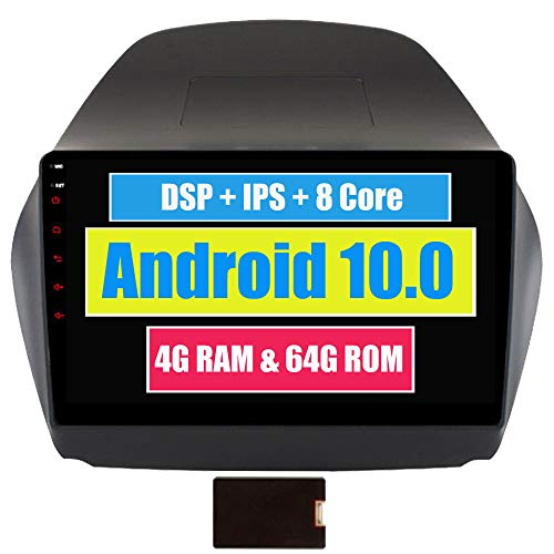 Roverone 10,2 Pouces Android 6.0 Octa Core pour Hyundai Tucson ix35 2009-2015 Autoradio avec navigation GPS Bluetooth stéréo Miroir Link Full écran tactile