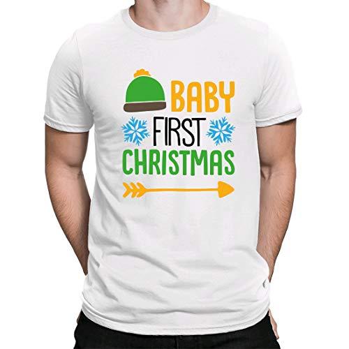 Camiseta Navidad,Regalo Navidad,Christmas t Shirts,Estampado,Baby First Christmas, Camiseta para Hombre Manga Corta...