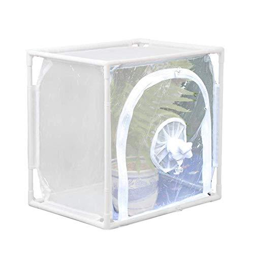 FENGLI Mini-Gewächshaus-Zelt mit einer großen Öffnung und einer kleinen elastischen Öffnung, Insekten- und Schmetterlings-Habitat, groß, tragbar, Insekten-, Monarch- und Schmetterlings-Netz