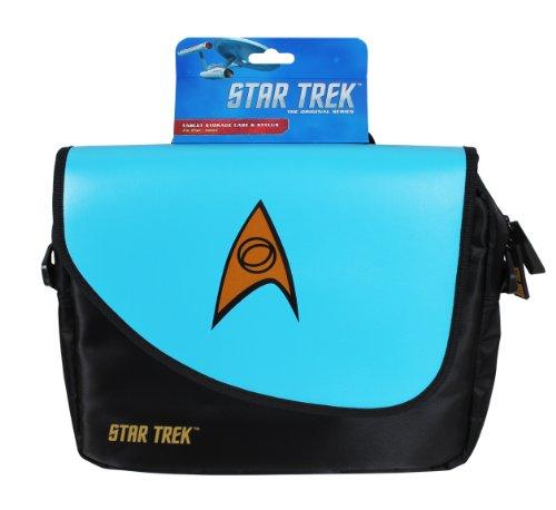 ORB Star Trek Umhängetasche/ Messenger Bag für Notebooks mit bis zu 10Zoll/ 25,4cm, Blau