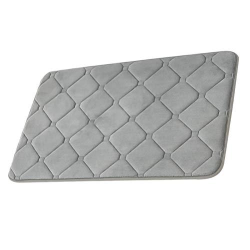 GARNECK Zachte Badmatten Antislip Absorberende Badkamer Tapijten Pluche Comfortabel Tapijt Voor Keuken Badkamer Woonkamer (Donkergrijs 50X80cm)