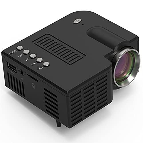 YICHEN Proyector Mini Proyector de Video portátil LED Compatible con TV Stick, HDMI, SD, AV, VGA, USB, PS4, X-Box, iPhone/Android,Negro