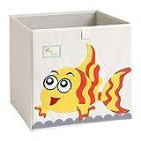 Caja de almacenamiento plegable con diseño de pez dorado