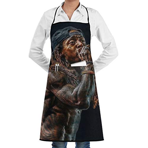 NA 3D Printing Diversification Style Lil Wayne Tha Carter Multiple Uses for CleaningMultifunctional Apron Waterproof Dirt-Proof Ball-Free Apron