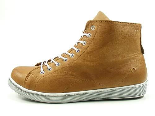 Andrea Conti Damen Schnürboots mit Reißverschluss 0341500 Sneaker High, Schuhgröße:42 EU, Farbe:Braun
