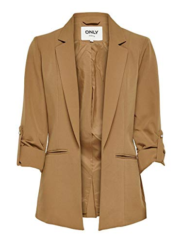 Only ONLKAYLE-ORLEEN 3/4 Blazer CC TLR, Toasted Coconut, 38 para Mujer