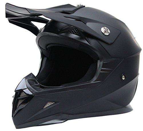 Motocross Motorradhelm Downhill Fullface Helm – Yema YM-915 Cross DH Enduro Quad Mountainbike BMX MTB Helm ECE für Damen Herren Erwachsene-Schwarz Matt-L - 2