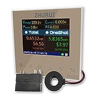 ZHURUI EM20-ER 外部リレー/エネルギーモニタメーター/家全体を監視する/ 40 / 60 / 80 / 120 A/電力消費メーター/ 23通貨単位を接続することができます (EM20-ER)