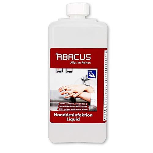 HANDDESINFEKTION LIQUID 1000 ml (2129) - Desinfektionsmittel in Euroflasche ideal für Spender Wandhalter flüssig Desinfektion Desinfektionsflüssigkeit - ABACUS