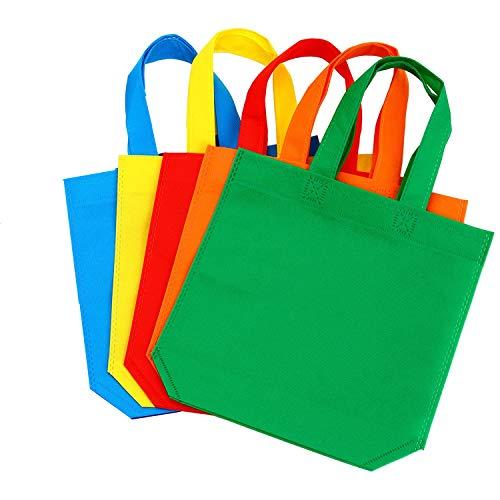Jrancc Bolsas no Tejidas Bolsa de Regalo de Fiesta 30 Piezas 33 por 26 cm 5 Colores Bolsa de Compras no Tejida para Niños Niños Favores de Cumpleaños para Adultos