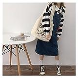 bolsa de lona Bolsa de hombro de lona para mujer Tela de tela de peluche caliente Lindo oso bolso suave Tote de gran capacidad Bolsas de compras para damas (Color : BEARS White lining)