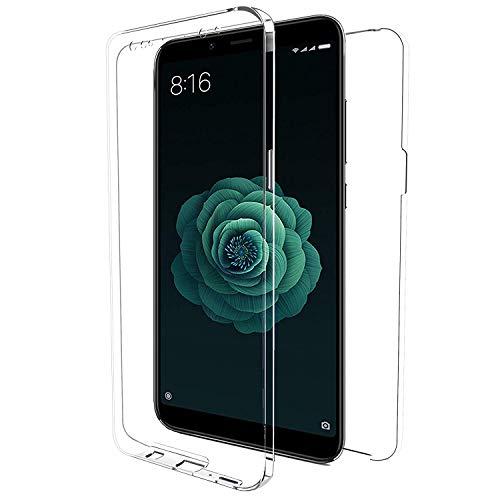 iGlobalmarket Funda para Xiaomi Redmi Note 5A / Y1 - Carcasa Completa [360] de [Silicona] para móvil - (Transparente Frontal + Trasera)