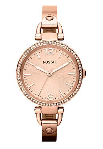 Fossil Fossil Damen-Uhren Rund Analog Quarz Edelstahl 32002992