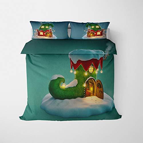 ZKDT Juego de ropa de cama para niños, suave y cómodo, de microfibra, juego de 3 (135 x 200 cm + 50 x 75 cm, estilo 1)