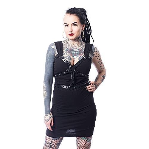 Heartless Vestido G├│tico Punk de Tirantas Zonai - Negro XL