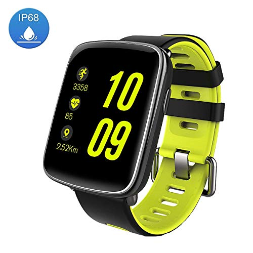 LUXSURE Draadloze Fitness Tracker Waterdichte Bluetooth Tracker Armband te Monitor Hartslag & Stappenteller Compatibel met iPhone Samsung IOS & Android, Groen Smart Watch-Waterdicht